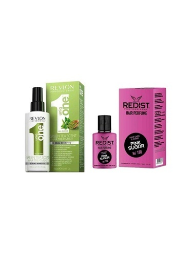 Revlon Revlon Uniq One Green Tea Hair Treatment 150 Ml+Redist Pink Sugar No:180 Saç Parfümü 50 Ml Renksiz